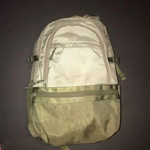 PINK BACKPACK Olive Green School Hiking Used
